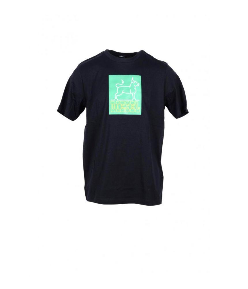 Diesel T-shirt, Dog Sketch Print, round collar
