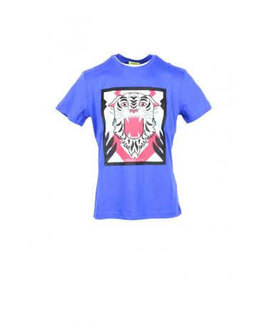 Versace Jeans T-shirt, Tiger Print, round collar