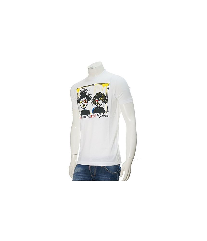 Dsquared2 T-shirt, Sketch Print, Warhol, S74GC0978 S22427