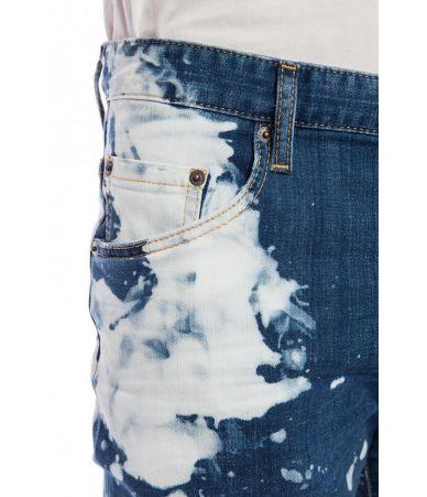 Blugi barbat, Dsquared2 Skater Jeans, Painted, SS19, S74LB0510 S30342