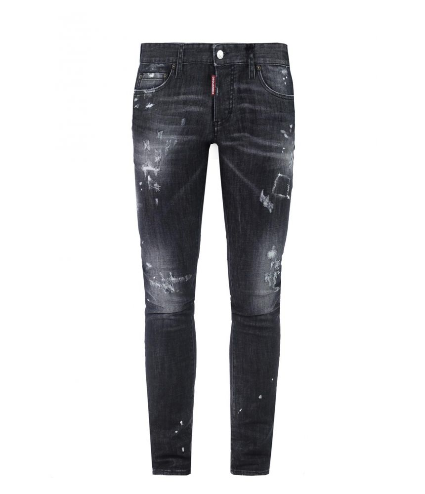 Blugi barbat, Dsquared2, Slim Jean, negru, S71LB0248 S30357