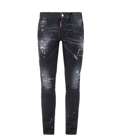 Dsquared2, Distressed Slim Jean, black, S71LB0248 S30357