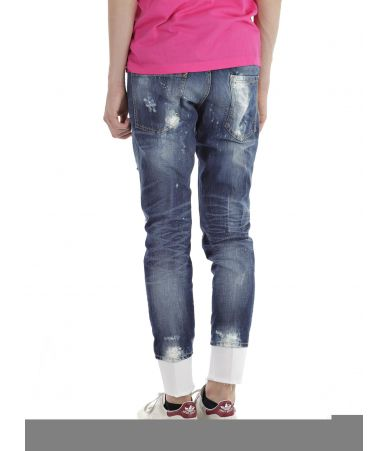 Blugi barbat, Dsquared2, Slim Jeans, Destroyed, S74LB0007 S30309