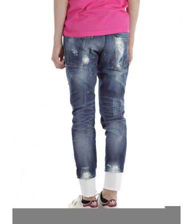Blugi barbat, Dsquared2, Slim Jeans, Destroyed, S74LB0007 S30309