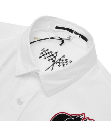 Alexander McQueen, McQ Logo Print, Sheehan Shirt, 499300RMP25