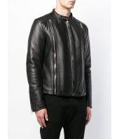 Geaca piele, Les Hommes, Fitted Biker Jacket, LHF255LLF115