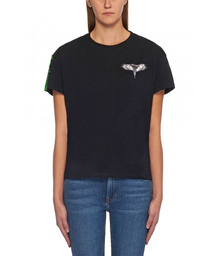 Marcelo Burlon, Woman, Wings Print Fitted T-shirt, 1AA033E180