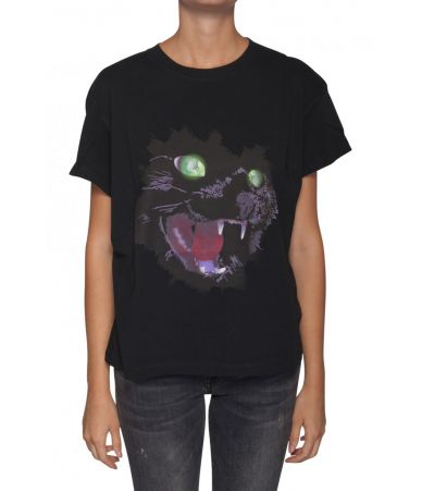 Marcelo Burlon, Woman, Cat Print T-shirt, FW19, 1AA030E180