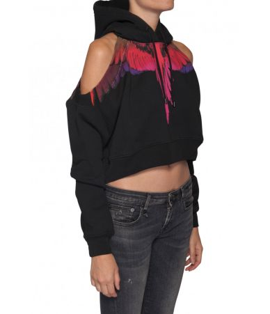 Marcelo Burlon, Over The Shoulder Hoodie, Wings Print, 1BB020E185