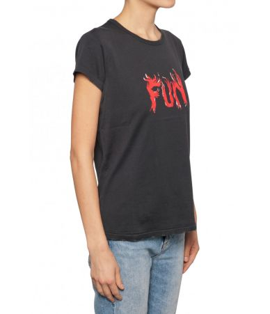 Givenchy Woman, Fun Flames Print T-shirt, 1BW70273013001
