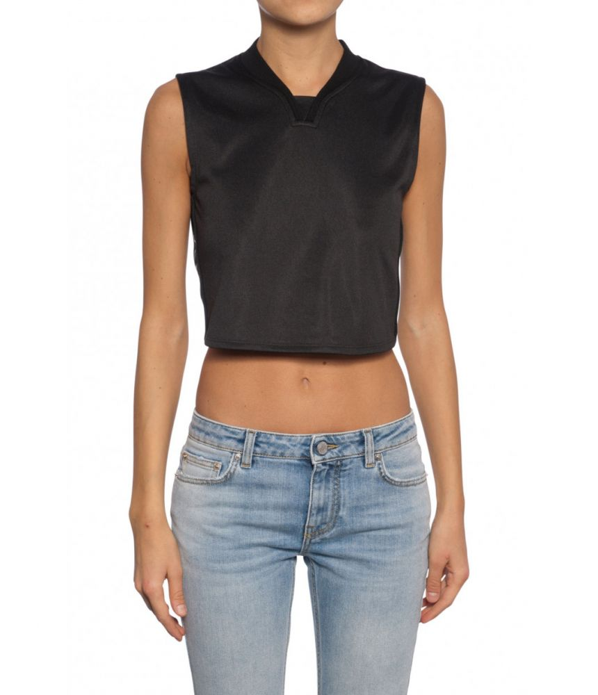 Top dama Givenchy, Crop Top, Gulver in V, BW600C300P001