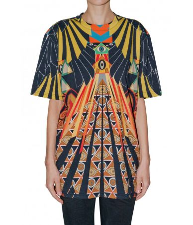 Givenchy T-shirt, Eye Over Print Multicolor, Oversized, 116I7705495960