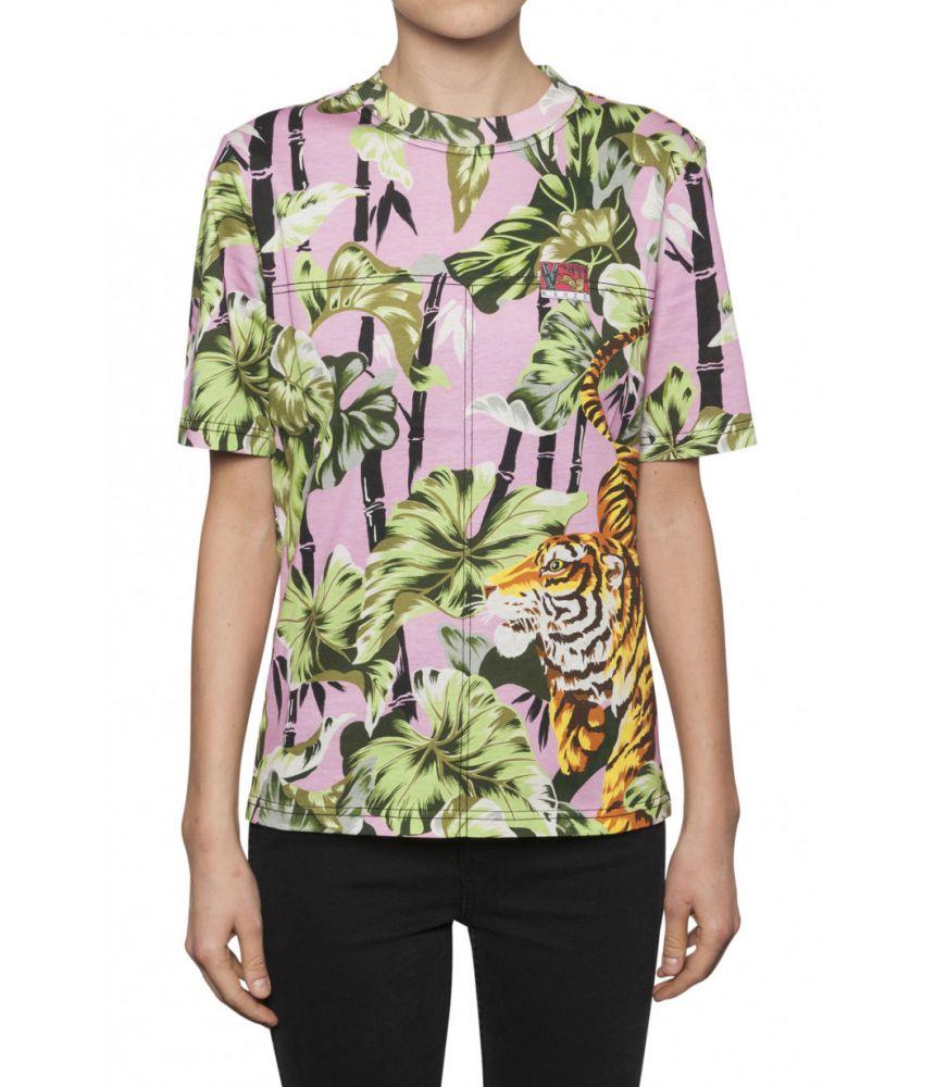 Tricou dama, Kenzo Tiger Print, Straight Fit, 11TS74599332