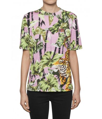 Kenzo Tiger Print, Straight Fit, Woman T-shirt, 11TS74599332