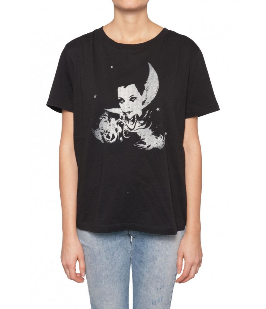Tricou dama Saint Laurent, Moon Star Print, 1512430YB2RT1095