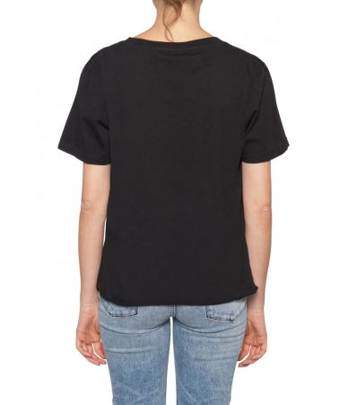 Saint Laurent, Women t-shirt, Moon Star Print, 1512430YB2RT1095