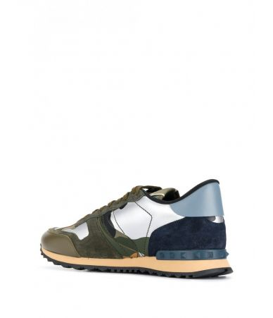 Pantofi sport, Valentino Rockrunner Camouflage Sneakers, SS19