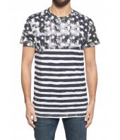 Balmain, Stars and Stripes Print t-shirt, 1H8601I093181