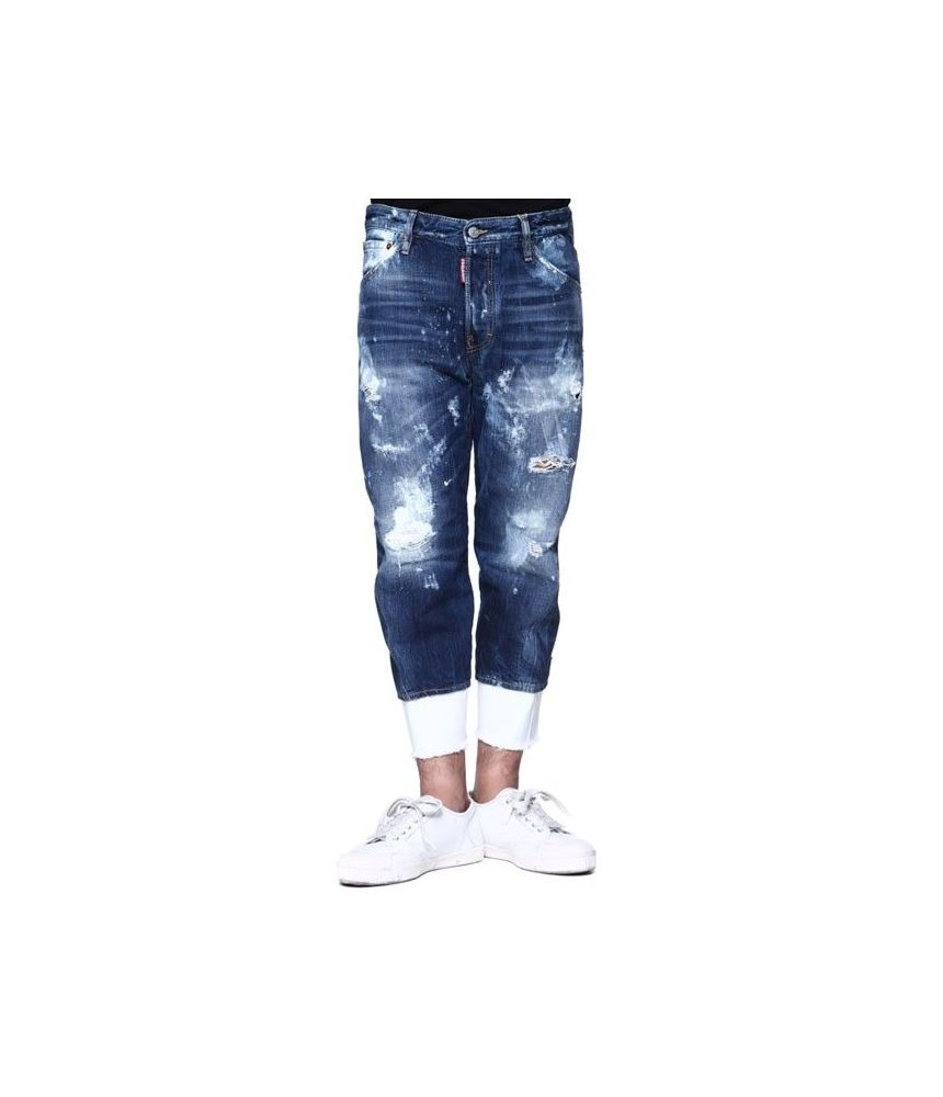 Blugi barbat, Dsquared2 Work Wear Jeans, Deteriorati, S74LB0001