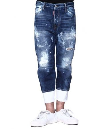 Blugi barbat, Dsquared2 Work Wear Jeans, Deteriorati, S74LB0001
