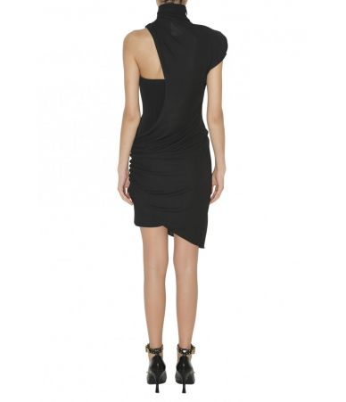 Versace, Cagoule Neck Sheath Dress, 1A80998A208595A1008, black