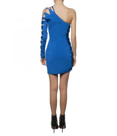 Balmain Short dress, One Shoulder Laced, 1133642M101C3215