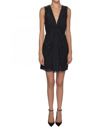 Saint Laurent, Mini Dress, Black Details, 1529925Y286T1000