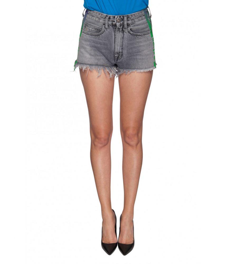 Marcelo Burlon, Woman's short Distressed Jeans, 1YC003E188681741040