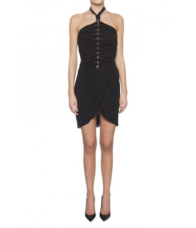 Saint Laurent, Georgette Strap Backless Dress, 1498599Y059R1000