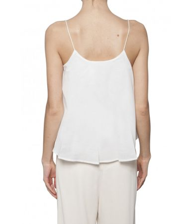 See by Chloe, White Top, cotton lace details, 1S18UHT07023101