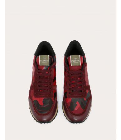 Valentino Garavani, RockRunner Camouflage Sneakers, Rubin, RY2S0723TCC R30