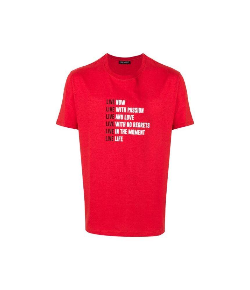 Tricou barbat, Neil Barrett, Live Slogan, PBJT364SG563S