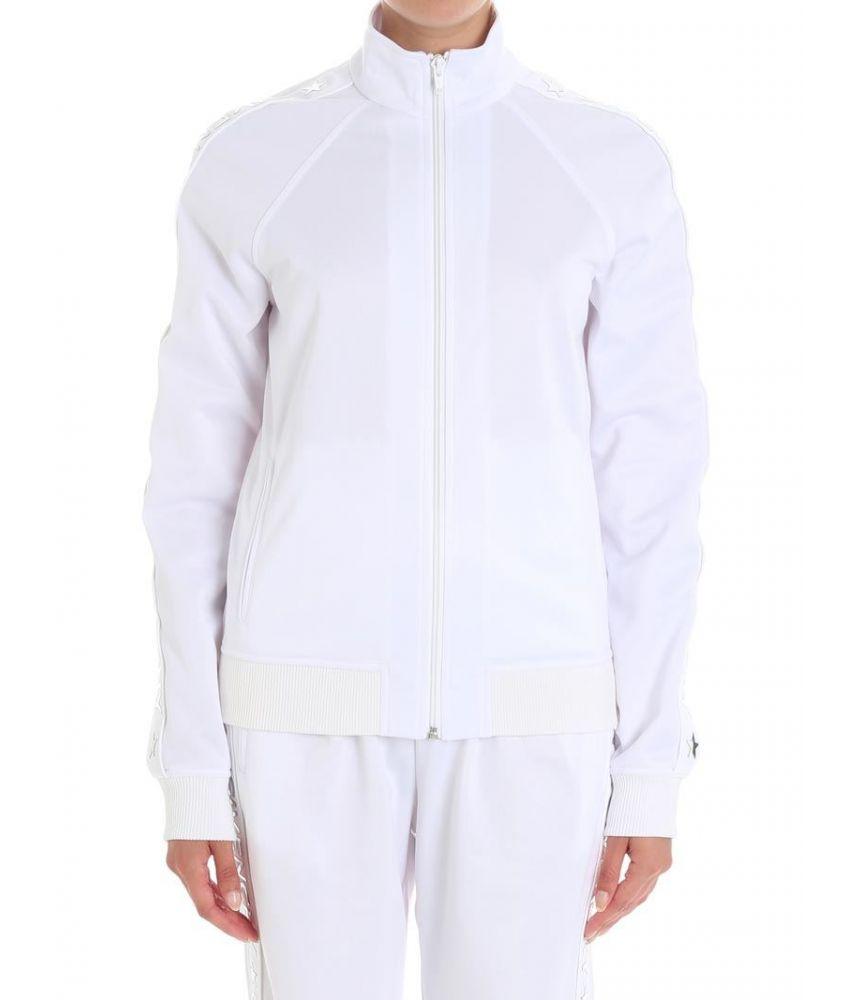 Givenchy White logo jogging women's sweatshirt, BW301Q300P
