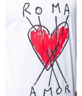 Fendi Roma, Hearts Amor Print, Men's T-shirt, FY0936.A6ZN