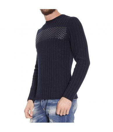 Emporio Armani, Men's sweatshirt with applications, S1M53M S155M