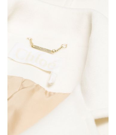 Chloe single breasted belted women's coat, Milk, CHC18AMA01072107
