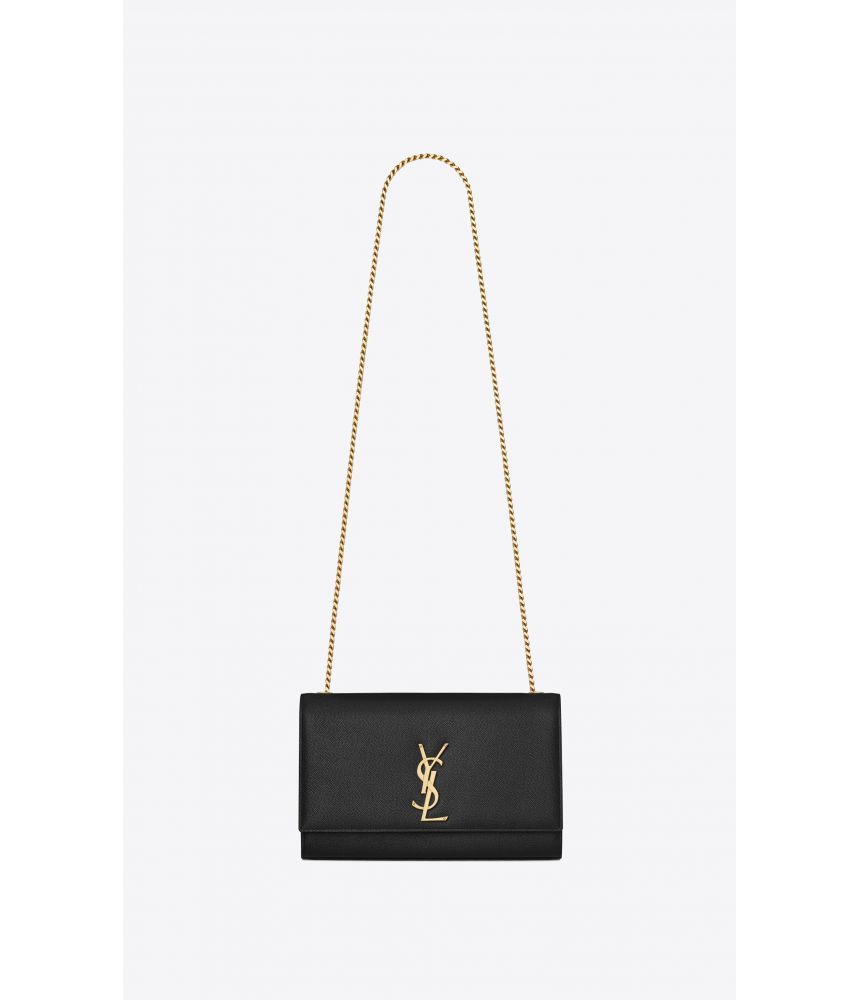 Geanta crossbody, Saint Laurent Kate Medium in grain de poudre, 364021BOW0J1000