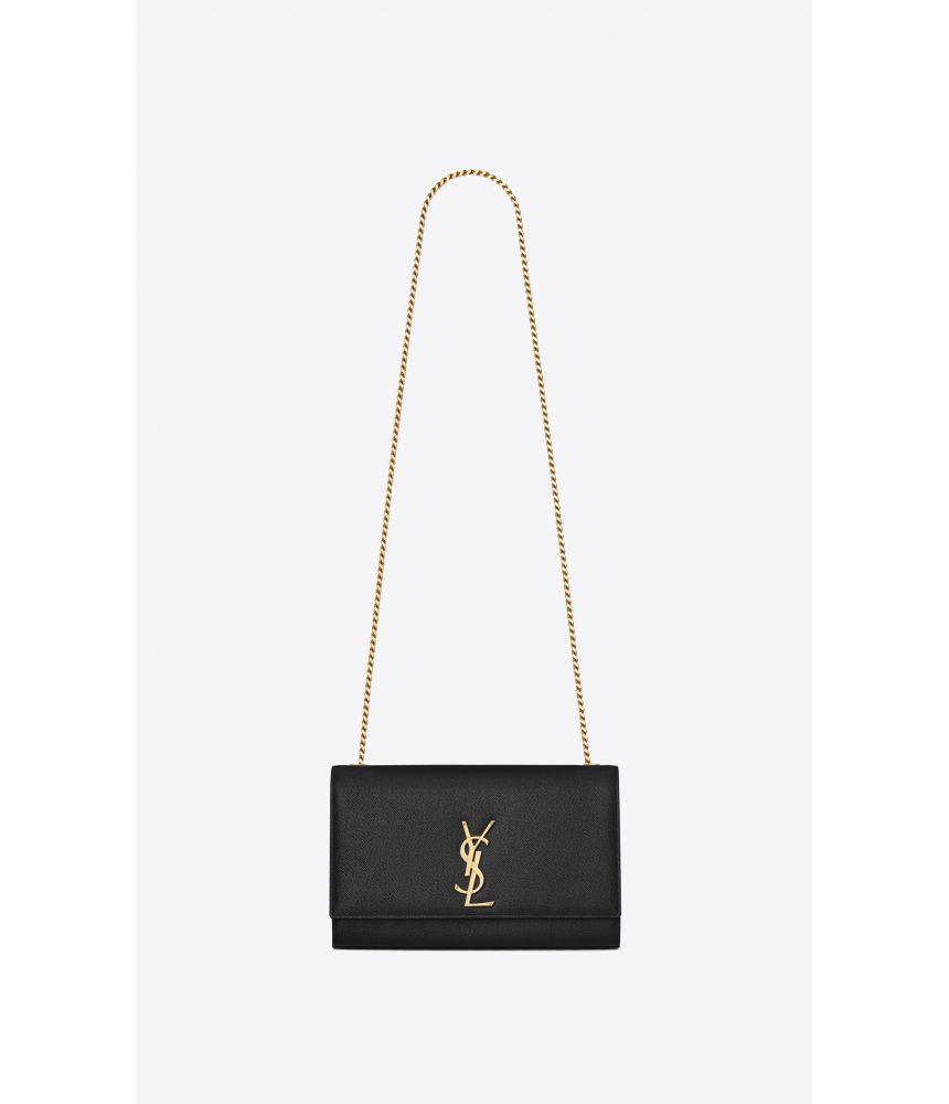 Saint Laurent, Kate Medium Handbag, in grain de poudre, 364021BOW0J1000