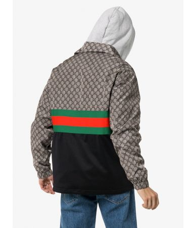 Gucci Tech Jersey Jacket, Monogram Striped Jacket, 545606/Xjac2