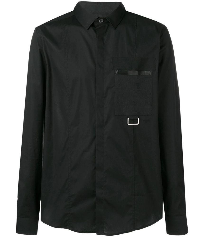Les Hommes, Slim Fit Buckle Shirt, LHG611LG500A