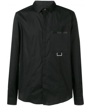 Les Hommes, Slim Fit Buckle Shirt, LHG611LG500A