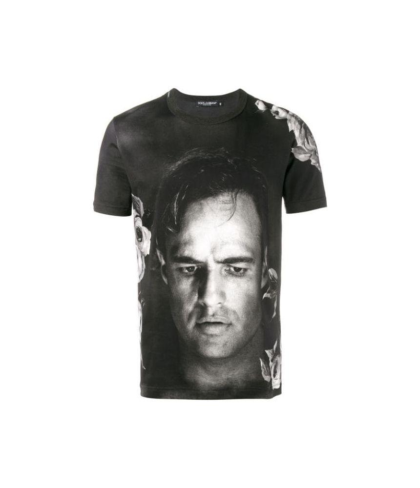 Dolce and Gabbana T-shirt, Marlon Brando Print, G8GX8TFP719
