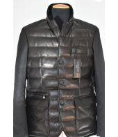 Corneliani, Padded leather jacket, 65C35810114