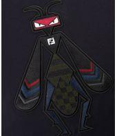 FENDI Super Bugs, Embroidered t-shirt, FY0895 A3LI F0QG0