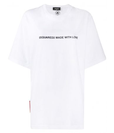 Dsquared2 T-shirt, Made With Love, White, S75GD0026 S20694