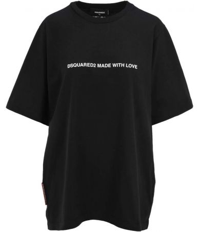 Tricou dama, Dsquared2, Made With Love Black, S75GD0026 S20694 900