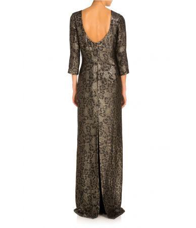 Rochie lunga, Gucci, Metallic Leopard Column Gown, 354462 ZDM60