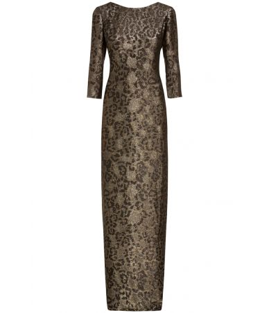 Gucci dress, Metallic Leopard Column Gown, 354462 ZDM60