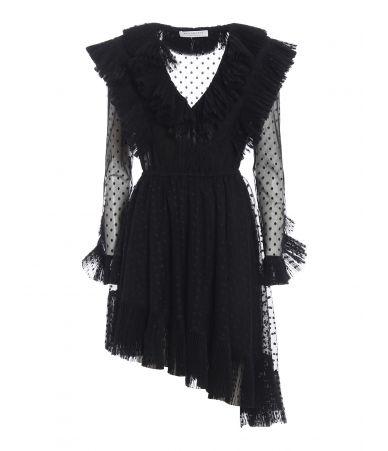 Philosophy, Polka dot tulle asymmetric dress, A0419732555