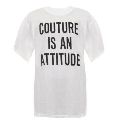 Moschino T-Shirt, Couture is an attitude, 3XT0704